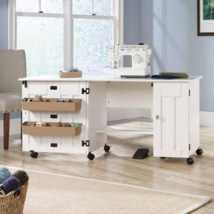 Sauder sewing craft cart soft white