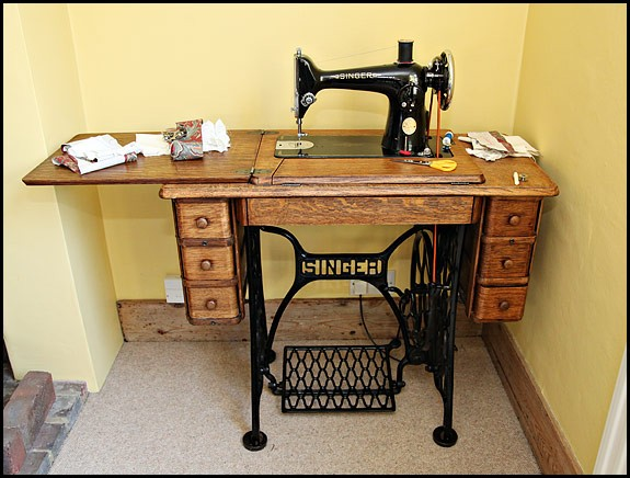 used sewing machine table